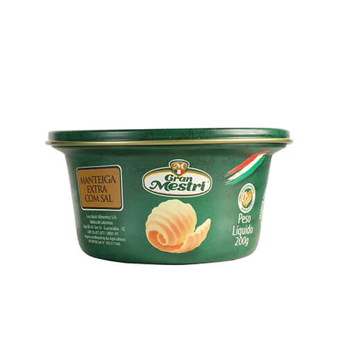 8036 – Manteiga Gran Mestri Com Sal 200 Gr
