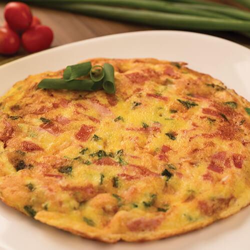 3990 – Omelete De Presunto, Queijo E Cheiro Verde
